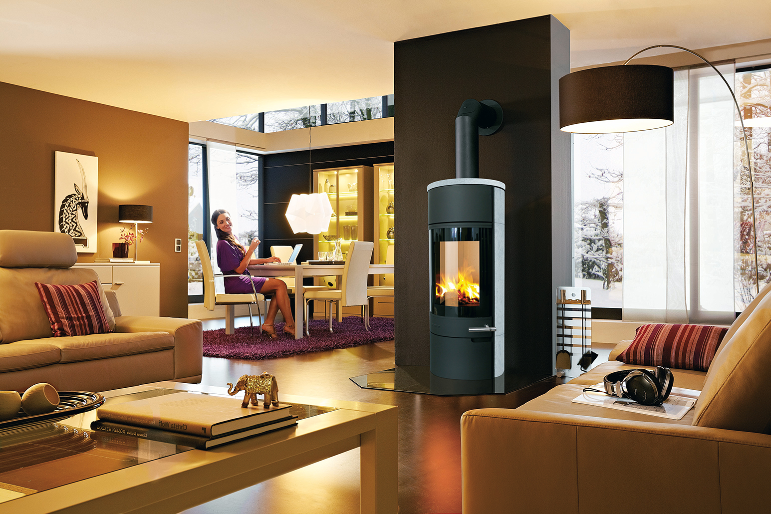 kaminofen solaro 2 natstone von drooff fine art of fire. Black Bedroom Furniture Sets. Home Design Ideas