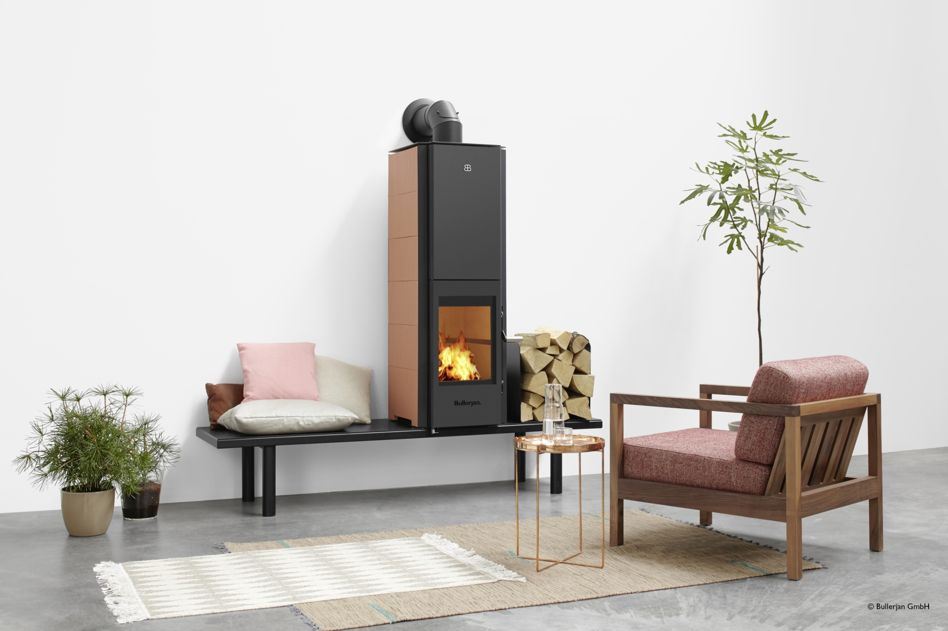 kaminofen bullerjan b ceramic pfirsich matt von bullerjan. Black Bedroom Furniture Sets. Home Design Ideas