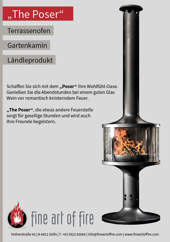 Gartenkamin The Poser Outdoor Feuerstelle Fine Art Of Fire