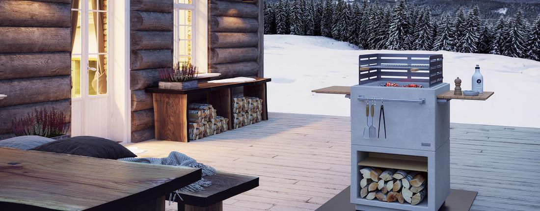 Air Gartenkamin Winter